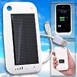 【iPhone3G/3GS専用】ソーラーハイブリッド充電ケース solar charge jacket-i(ホワイト)【ギフトショー春2010出品商品】