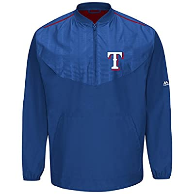 Majestic Texas Rangers Half Zip Cool Base On-Field Training Jacket