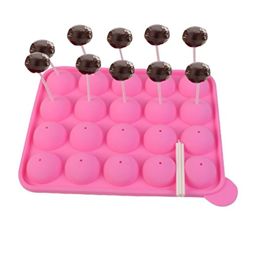 Cherry Queen 20 Cup Tasty Cake PopSilicone Mold Tray Easy Instant Baking Flex Pan