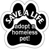 足跡型マグネット『身寄りのない犬・猫を受け入れて命を救おう』Save a Life - Adopt A Homeless Pet