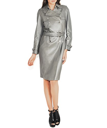 Dolce & Gabbana Metallic Leather Trench Coat