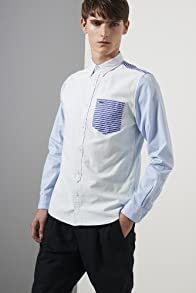 L!ve Long Sleeve Mixed Pattern Oxford Woven Shirt