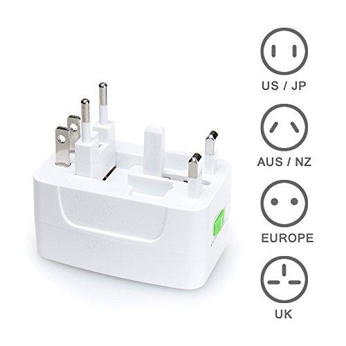 MAXAH® Adattatore Universale da Viaggio /Tutto in uno adattatore /All-in-One Universal World Wide/Travel Adapter con indicatori accensione