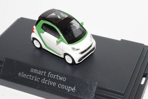 Smart ForTwo Coupe Weiss Grün Facelift 2010 Ab 2007 C451 H0 1/87 Herpa Modell Auto