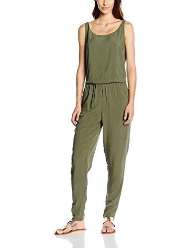 ONLY - onlNOVA SOLID S/L JUMPSUIT WVN, Tuta intera Donna, Verde (Grape Leaf), M (Taglia Produttore: 38)