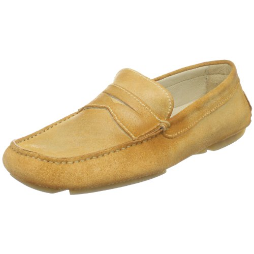 Donald J Pliner Men's Vinco Driving Loafer, Distressed Camel, 12 M US