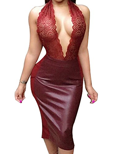 Allegrace-Women-Sexy-Luxury-Lace-Halter-Neck-Banquet-Cocktail-Prom-Party-Dresses