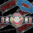 WWE 2007 ECW World Heavyweight Replica Belt Adult Size