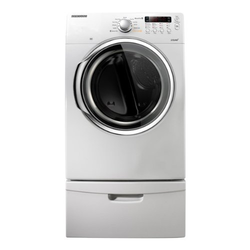 Samsung DV331AEW 7.3 Cu. Ft. White Stackable With Steam Cycle Electric Front Load Dryer