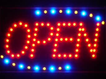 ADV PRO led001-r Red OPEN Classic LED Neon Business Light Sign Enseigne Lumineuse