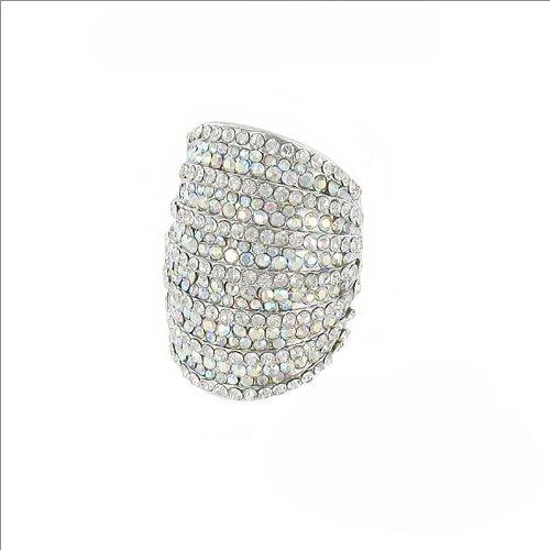 Elegant Crystal Stone Line Design Ring #035316