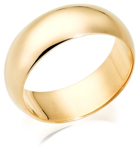 10k Yellow Gold 8mm Traditional Men's Wedding Band