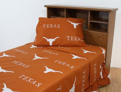 College Texas Longhorns Burnt Orange Collegiate Sheet Set (Twin) front-351347