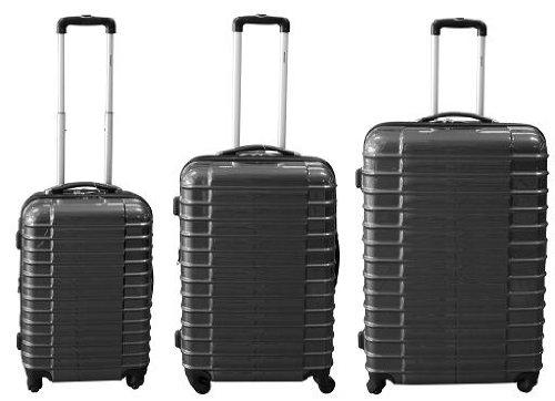 3 teiliges Polycarbonat Trolley Koffer Set Anthrazit