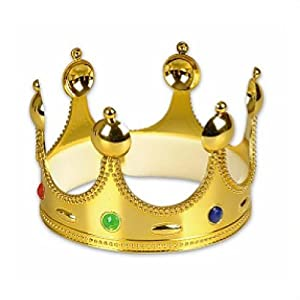 Amazon.com: Gold Queen King or Prince Crown: Toys & Games