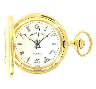 Mount Royal Pocket Watch G408PM Gold Plated Masonic Half Hunter