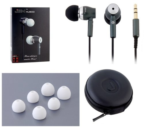 Jbm Mj800 Rugged Ppe In-Ear Earbuds Style Headphones With Travel Case (Black)