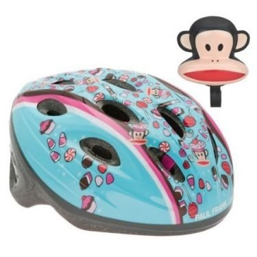 Paul Frank Coolius Julius Child Bike Helmet 5+ with a Monkeying-around Horn - Value Pack!