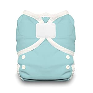 Thirsties Duo Wrap Diaper Cover with Hook and Loop, Aqua, Size 1