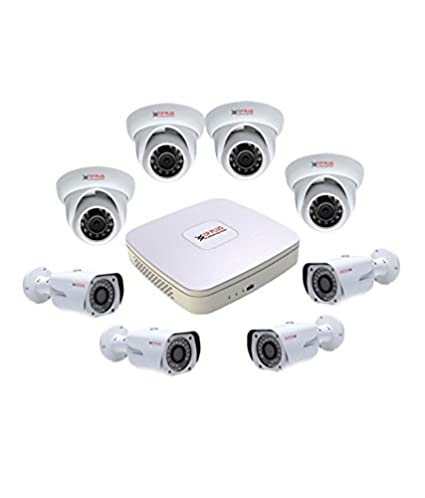 CP PLUS CP-HDCVI 8CHD-4IRD-4L2D 8Channel DVR + 4 Dome IR + 4 Bullet IR CCTV Camera