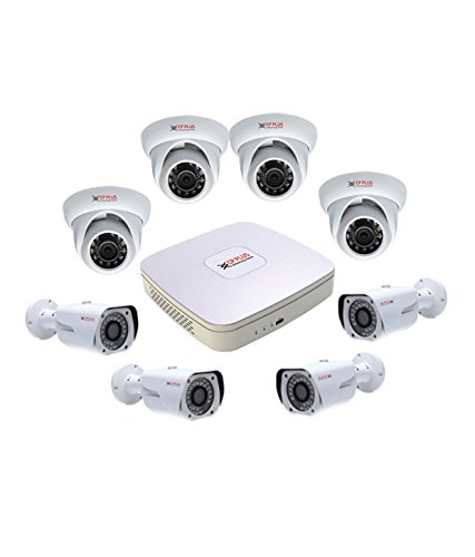 Cp Plus Cp-Plus Hdcvi 8 Ch Dvr and 4 Dom Ir and 4 Bullet Ir - 1 Mega Pixels Cctv Camera Surveillance System at amazon