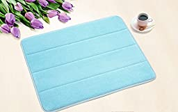 Slow rebound mats Bathroom slip Bathroom absorbent Mats Doormat Carpet Bath mats Kitchen mat blue