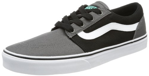 Vans Men's M COLLINS (CANVAS) PEWTER Trainers Black Schwarz ((Canvas) pewter/mint) Size: 11 (45 EU)