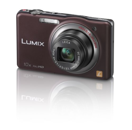 Panasonic DMC-SZ7EB-T Brown 10x Super Zoom Camera with 25mm LEICA Lens and Full HD Movie