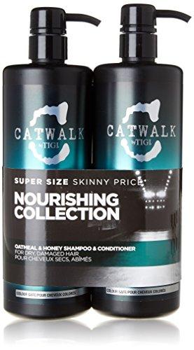 Tigi Catwalk farina d'avena e miele Nutriente Duo Pack (750ml Shampoo e Balsamo 750ml)