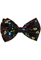 Pre-tied Bow Tie in Coool Brand Gift Box- Rainbow Musical Notes