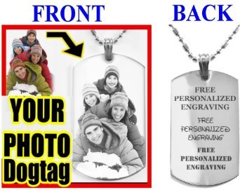 Personalize Custom Dog Tag 2side Engrave Necklace