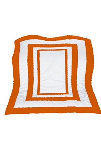 Baby Doll Modern Hotel Style Crib Comforter, Orange