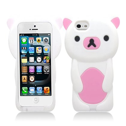 Cell Accessories For Less (Tm) For Apple Iphone 5/5S/5C/Lite White Bear Skin + Bundle (Stylus & Micro Cleaning Cloth) - By Thetargetbuys