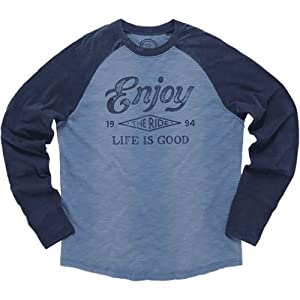 Buy Life is good Mens Baseball Tee by Life is Good
