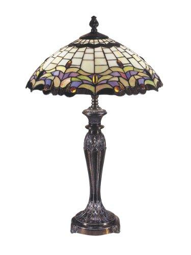 dale tiffany tt100618 reginald tiffany table lamp fieldstone and art. Black Bedroom Furniture Sets. Home Design Ideas
