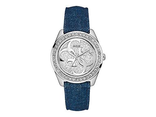 Guess  W0627L1 - Reloj de lujo para mujer, color plateado / azul