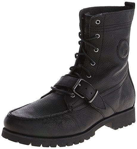 Polo Ralph Lauren Mens Ranger Boot,Black,11 D US