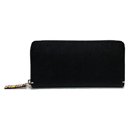 (ポール・スミス)Paul Smith ラウンドファスナー式 長財布 ブラック PSK869-10 牛革 正規品 ショップバッグ 専用箱付き
