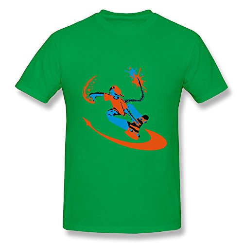 100% Cotton Funny Skatalien T Shirts For Man - Round Neck front-490436
