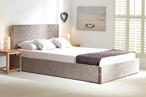Oxford Natural Stone Fabric Ottoman Bed, 5' Kingsize by Oxford