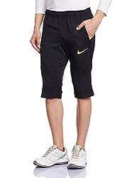 Nike Men's Synthetic Shorts (888407739910_644300-010_XX-Large_Black/Volt)
