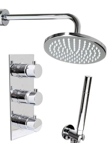 Thermostatic Shower Mixer Round Chrome Plated shower heads kit