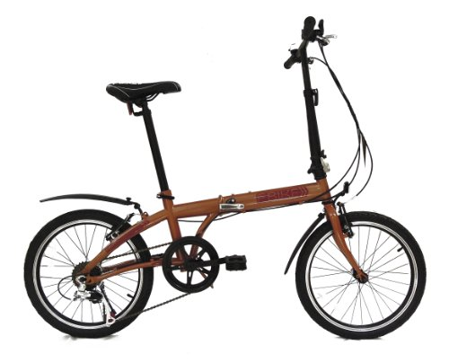fBIKE Direct 6 Speed Folding Bike, Papaya