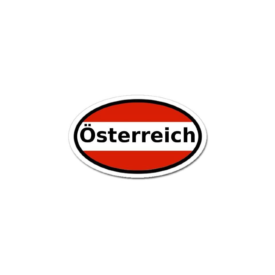 A Austria /Ö Austrian Flag Car Bumper Sticker Decal Oval