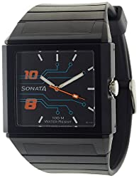 Sonata Ocean Analog Black Dial Mens Watch - NF7988PP02J