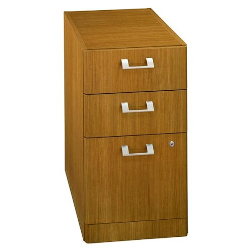 Quantum Modern Cherry Finish Office 3-Drawer File Cabinet