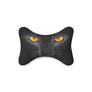 Fabitoo Custom Travel Car Seat Neck Pillow Cat's Eye Bone Shape Neck Rest Cushion (Only One)