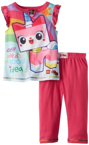 Lego Movie Girls 4-12 Unikitty Pajama Set, Pink, 6/6X