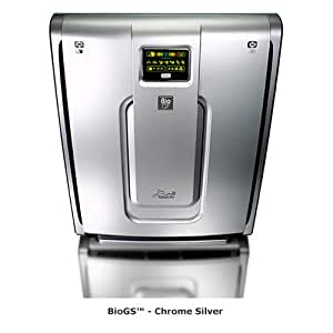 Rabbit Air BioGS (model 582A - covers 780 sq. ft.) High Quality Ultra-Quiet Air Purifier - Low Maintenance - Washable Filters!, Silver w/ Chrome Accents