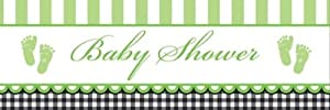 Creative Converting Sweet Baby Feet Green Giant Baby Shower Banner by Creative Converting